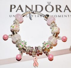 WOMAN'S 7.5 IN. AUTHENTIC PANDORA LOBSTER CLAW SS PINK RIBBON AWARENESS BRACELET #Pandora #European