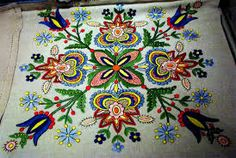 Polish folklore style embroidery
