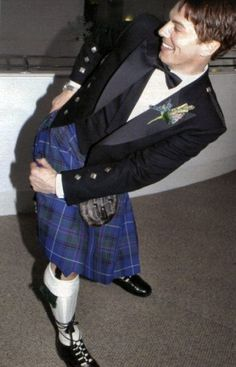 """""""Cheeky Captain Jack in a kilt, just waiting for the wind to blow!"""" Oh, John Barrowman!"""