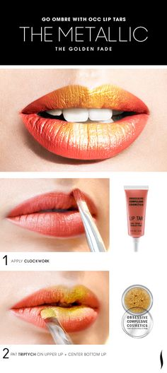 Use gold glitter to make any shade metallic. | 17 Easy Ways To Make Your Lips LookPerfect