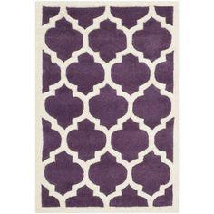 Safavieh Chatham Purple / Ivory Moroccan Rug