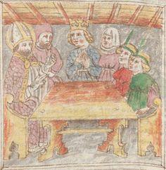Legenden der Augsburger Heiligen Ulrich, Sintpert, Afra, Eustachius. Johannes von Indersdorf Augsburg, 1454 Cgm 751  Folio 196
