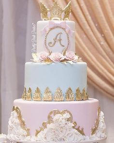 cakesYou can find Quince cakes and more on our website. 15th Birthday Cakes, Sweet 16 Birthday Cake, Beautiful Birthday Cakes, Birthday Cake Girls, Geek Birthday, Quince Themes, Quince Decorations, Quince Ideas, Royal Cakes