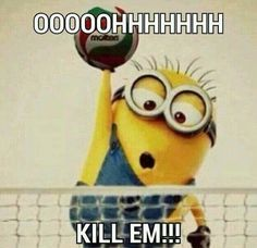 Minion playing volleyball is halarious lol Beach Volleyball, Volleyball Memes, Volleyball Players, Softball, Spike Volleyball, Volleyball Problems, Volleyball Motivation, Volleyball Ideas, Volleyball Inspiration
