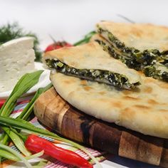 Цахараджин (Цахараджын) - пирог со свекольными листьями, осетинским сыром, зеленым луком, укропом