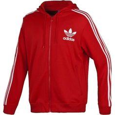 adidas originals hoodie red