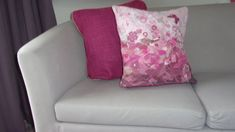 Confetti style vibrant pink cushion cover decorated with applique, buttons and machine embroidery. Sold with a hypoallergenic cushion pad Pink Cushion Covers, Pink Cushions, Cushion Pads, Free Motion Embroidery, Machine Embroidery, Textile Art, Confetti, Craft Supplies, Applique