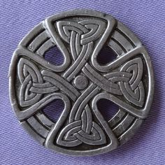 Vintage Pewter Celtic Cross Brooch By ST JUSTIN CORNWALL (?)