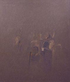 "Piero Sadun ""Ombra marrone"" 115x100 1960   da Gayser fine art"