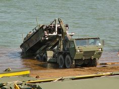 M1977 loading a Combat Support Boat