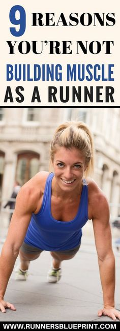 If you are a runner and are looking to build muscle, then look no further. In today's post, I'm going to share with you the eight obsta. Benefits Of Strength Training, Strength Training For Runners, Strength Training Workouts, High Intensity Interval Training, Running Workouts, Running Tips, Gain Muscle Women, Muscle Building Women, Muscle Building Diet