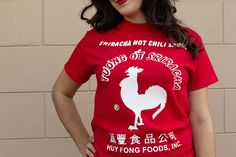 Pin for Later: Sriracha Obsessives Will Love This Easy DIY Costume  To be completely honest, I think I may wear this shirt to the gym. Is that too weird?