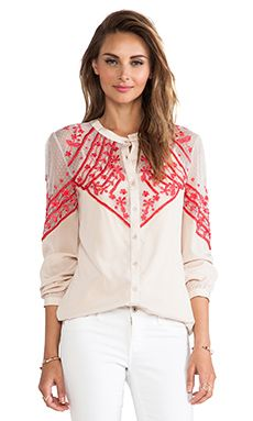 Alice by Temperley Ezra Blouse in Oyster Mix | REVOLVE