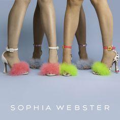 Shop the brand new Sophia Webster styles online now! Sophia Webster, Designing Women, Ava, Designer Shoes, Spring Summer, Footwear, Brand New, Heels, How To Wear