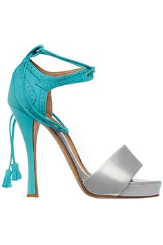 Hermes - interesting mix in one shoe, business in the back with aqua and sassy in the front Frm bd: Steppin' Out