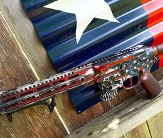 #Repost @redwhitepewpew  Awesome cerakoted Spikes AR.  @Regrann from @enlisted_arms -  Look at this patriotic little death blossom I cooked up last night. #freedomboner #2a #enlistedarms #merica #pewpew #gunporn #cerakote #customgun @spikes_tactical awesome jack lower.#redwhitepewpew