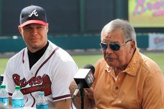 Chipper with Bobby Cox