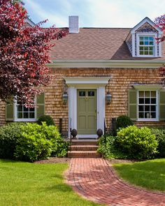 White Trim House Colors And Red Roof On Pinterest