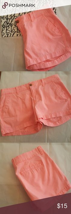 "Old Navy peach mango color shorts Old Navy peach shorts 3"" length Old Navy Shorts"