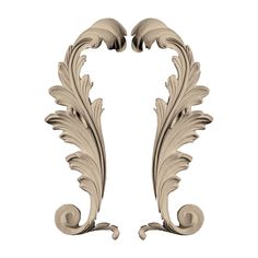 "Approx. 3"" x 8"" x 3/4' Leaves. - $22.43 for the pair. Gorgeous on bed or dresser. architecturaldepot.com"