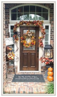 Grapevine Door Swag-Fall Front Porch- From My Front Porch To Yours