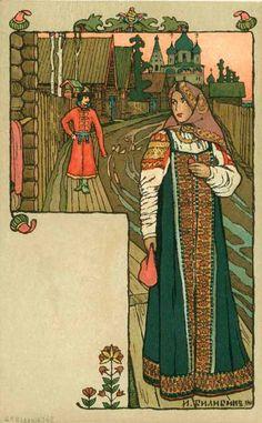 Ivan J. Bilibin - Russian Chromolithographic Postcard Designer
