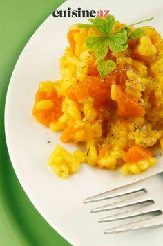 Une recette originale mais facile à cuisiner de curry de carottes en risotto. #recette#cuisine#curry#carottes #risotto Risotto, Curry, Original Recipe, Carrots, Cooking Food, Curries