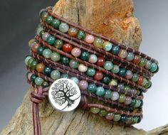 Whole Soul Jewelry - Fancy Jasper Leather Wrap Bracelet, $78.00 (http://www.wholesouljewelry.com/fancy-jasper-leather-wrap-bracelet/)