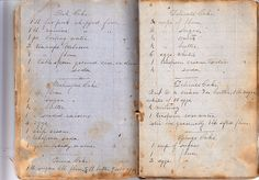 Jane Austen household recipe book