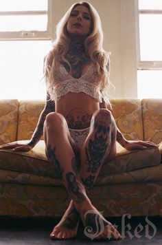 """""""I love doing men's hair because it's more challenging and I think it's more complicated then women's hair with all the fading and cutting techniques. I also love that men are a lot more easy going then women, haha."""" #inked #inkedmag #tattoo #interview #madison #skye #inkedgirls #model #sexy #gorgeous"""