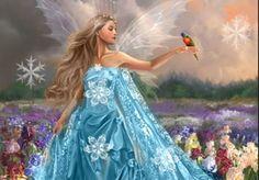 Beautiful Fairie Cute Fairy   Blue Fairy, 3D, abstract, art, beautiful, bird, blue, CG, colors ...