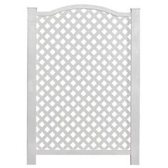 Barrette 45-in X 31-in White Vinyl Polyresin Outdoor Privacy Screen 73004316
