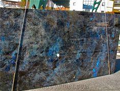 Lemurian Blue Granite Slabs, Madagascar Blue Granite