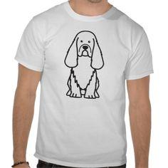 Sussex Spaniel Dog Cartoon T Shirt
