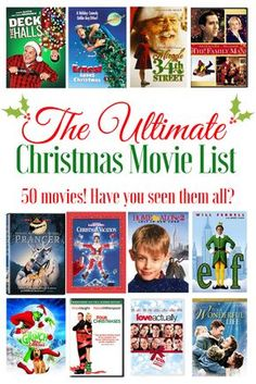 The Ultimate Christmas Movie List - FREE Printable! How many have you seen?