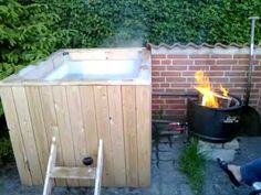 Real Men Build Their Own Hot Tubs. - The Roosevelts whirlpool Homemade hot tub
