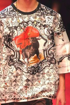 PRINTS, PATTERNS AND DETAILS FROM RECENT MILAN FASHION WEEK (MENSWEAR SPRING/SUMMER 2015) /  Versace et Dolce & Gabbana