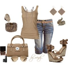 summer fun! love neutrals, created by wendyfer on Polyvore