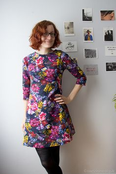 Falling for floral Françoise fabric Butterflies In My Stomach, Tilly And The Buttons, Knitted Fabric, Dress Patterns, Floral, Give It To Me, High Neck Dress, Knitting, Sewing