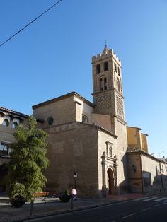 La Puebla de Alfindén (Zaragoza, Áragon) - Iglesia de Nuestra Señora de la Asunción s. XIV al XVIII - Torre mudéjar del s. XVI