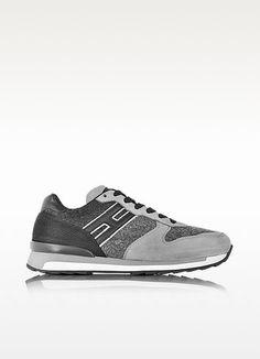 HOGAN REBEL RUNNING R261 NUBUCK AND FELT MEN'S SNEAKER. #hoganrebel #shoes #sneakers