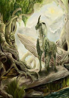 Unicorn. An interesting concept would be a dragon/unicorn creature.