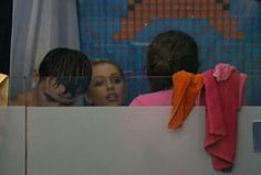 #bb14  Ian, Brit, and Danielle in the shower!?!?!?