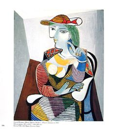 """A lithograph on Arches print by Spanish artist, Pablo Picasso, Spanish - that is titled """"Jeune Femme Assise dans un Fauteuil"""" from Pablo Picasso, Picasso Prints, Picasso Portraits, Spanish Artists, Expositions, Vintage Prints, Find Art, Fine Art Prints, Drawings"""