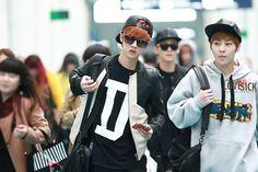 Nov 2013,, Exo | Exo-m | - Luhan Lulu Xiaolu & Xiumin Kim Minseok #xiuhan #lumin #airport