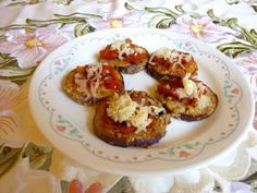 SPLENDID LOW-CARBING BY JENNIFER ELOFF: EGGPLANT BRUSCHETTA