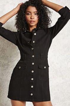 Denim Button-Up Dress