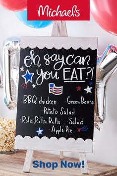 Can You Eat Chalkboard Menu Printable of July Invitation Vintage Fourth of July This chalkboard style printable card is perfect for a of July party or get together! ***This listing is for a PRINTABLE CARD only. No awesome Patriotic Playlist Fourth Of July Decor, 4th Of July Celebration, 4th Of July Decorations, 4th Of July Party, 4th Of July Ideas, Fourth Of July Chalkboard, 4th Of July Games, Birthday Decorations, July Birthday