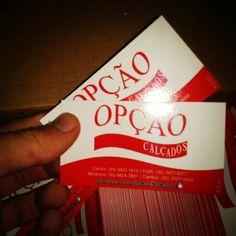 Cartão de Visita Opção Calçados #sucesso