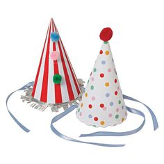 Toot Sweet Party Hats by Meri Meri. Shop Meri Meri Luxury Party Supplies and Stationery with Next Day Delivery at The Original Party Bag Company Birthday Party Hats, Circus Birthday, Elmo Party, Elmo Birthday, Mickey Party, Dinosaur Party, Dinosaur Birthday, Party Fun, Sweet Party